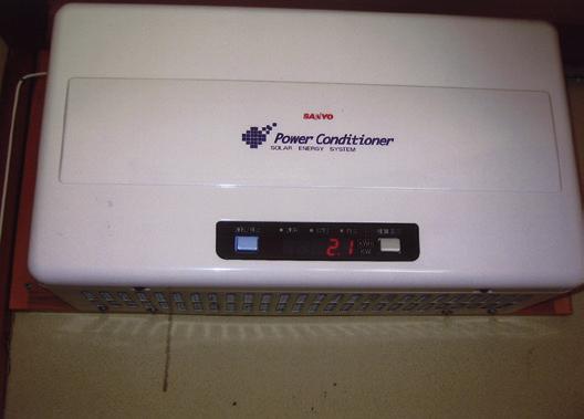 パワーコンディショナーに発 電量が表示