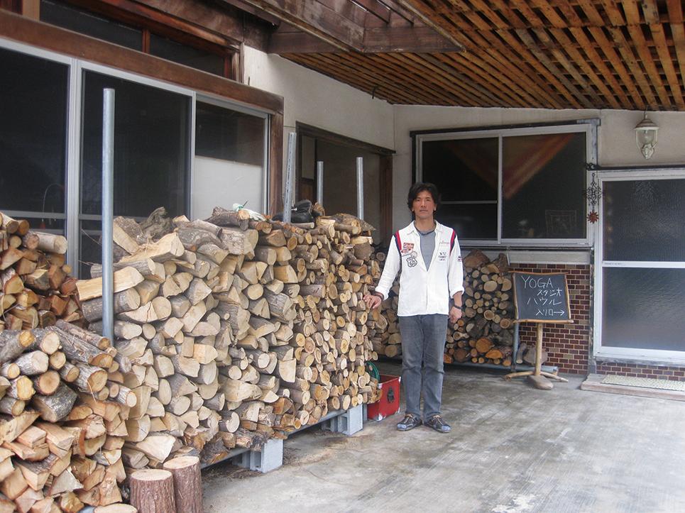 薪の保管場所
