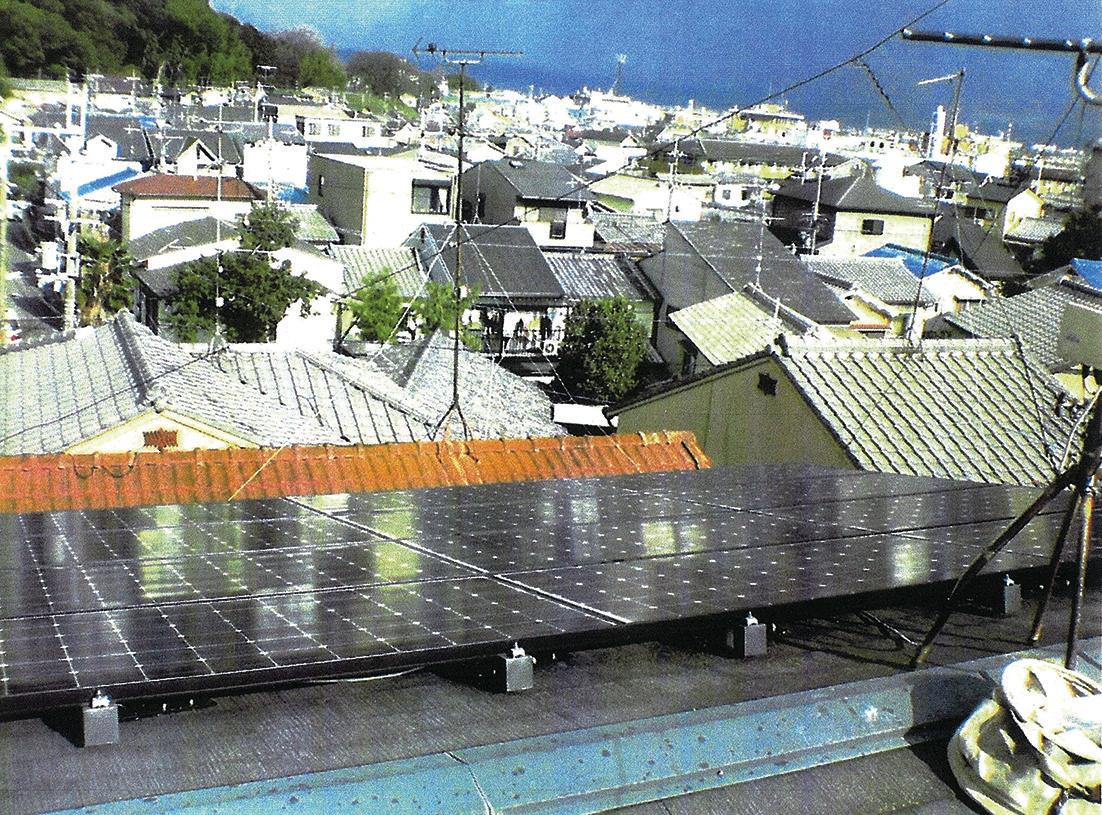 設置している太陽光パネル