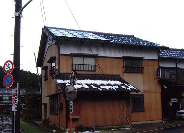 屋根に設置されたパネル