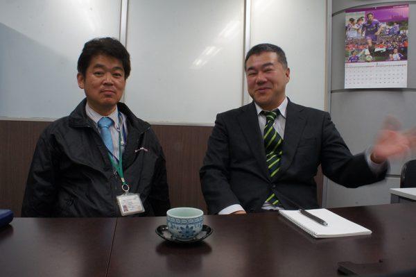 鈴木さんと鄭さんの写真